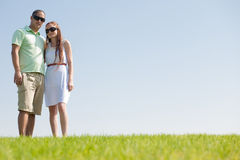 Young couple hug. Park outdoor royalty free stock photo