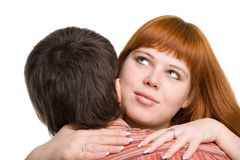Young couple hugging Stock Photos