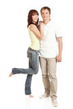 Young couple. Hugging each other Royalty Free Stock Image