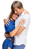 Young couple hugging each other Royalty Free Stock Photo