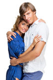 Young couple hugging each other Stock Photos