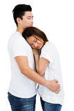 Young couple hugging each other Royalty Free Stock Photos