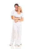 Young couple hugging stock images