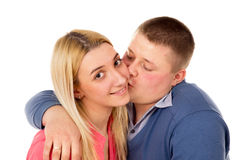 A young couple hugging Royalty Free Stock Image
