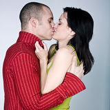 Young couple hugging kissing Stock Photography