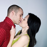 Young couple hugging kissing Royalty Free Stock Photography