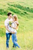 Picture of a young couple hugging lovely royalty free stock photos