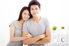 Young  couple hugging and smiling Stock Image