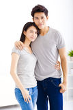 Young  couple hugging and smiling Stock Photography