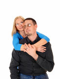 Young couple hugging. Royalty Free Stock Image