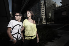Free Young Couple In The City Stock Photos - 10838833