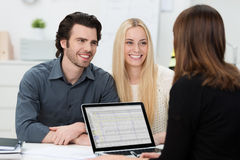 Young couple during an interview Stock Photography