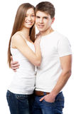 Young couple isolated on white background Stock Images
