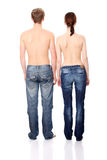 Young couple in jeans Stock Photo