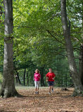 Young couple jogging Royalty Free Stock Images