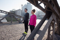 Young  couple jogging Stock Image