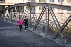 Young  couple jogging Stock Photos