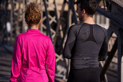 Young  couple jogging Royalty Free Stock Photography
