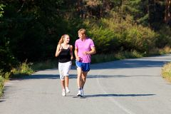 Running together Stock Photography