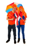 Young couple for kings day in Holland Royalty Free Stock Photo