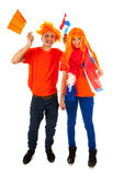 Young couple for kings day in Holland Stock Image