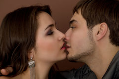 Young couple before kiss Stock Image