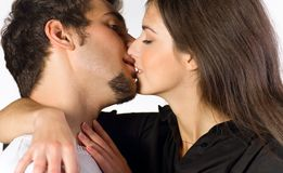 Young couple kissing Stock Image