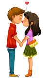 Young couple kissing Stock Photos