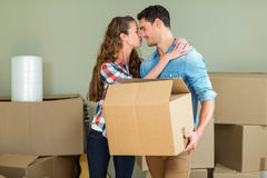 Young couple kissing each other Stock Images