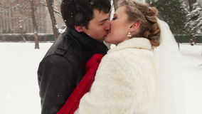 Young couple kissing stock video