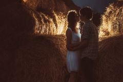 Young couple kissing. Stock Photos