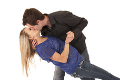 Young couple kissing leaning backwards Stock Photo
