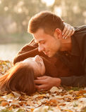 Young couple kissing Royalty Free Stock Photo