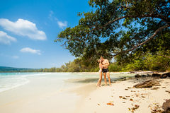 Young couple on Koh Rong Royalty Free Stock Photos