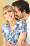 Young couple laughing Stock Images