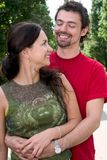 Young couple laughing Stock Image