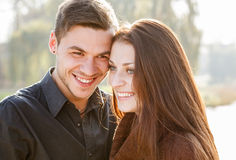 Young couple laughing Royalty Free Stock Image