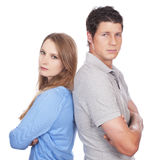 Young couple leaning at each other Royalty Free Stock Photos