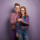 Young couple listening music Royalty Free Stock Photography