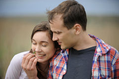 Young Couple with Lizard Royalty Free Stock Images