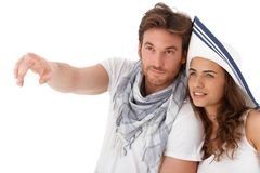 Young couple looking away Royalty Free Stock Photo