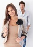 Young couple looking at camera Stock Photos