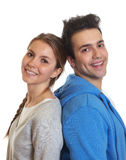 Young couple looking at camera Stock Images
