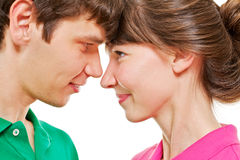 Young couple looking at each other Stock Photos