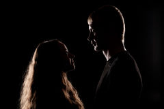 Young couple looking at each other Stock Photography