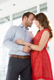 Young couple looking at each other and embracing Royalty Free Stock Photo