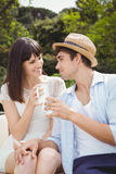 Young couple looking at each other Stock Images