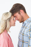 Young couple looking at each other over Royalty Free Stock Photo