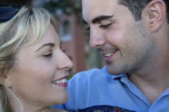 Young couple looking at each other romantically Stock Image