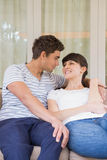 Young couple looking at each other Royalty Free Stock Images